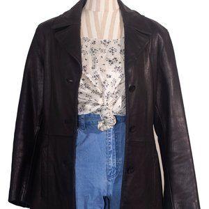 "Vintage ""Laura Scott"" Quilted Floral Satin Top"